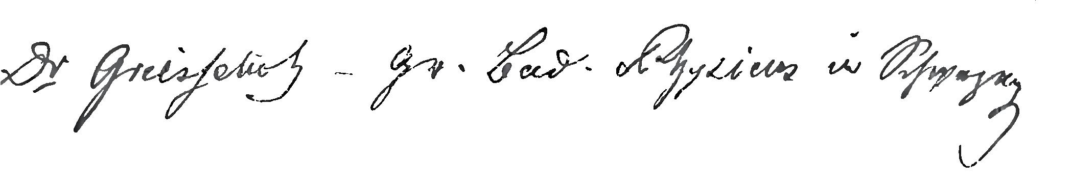 Grießelich Unterschrift